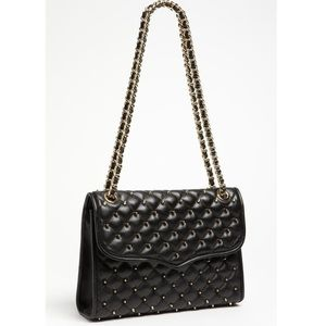 Rebecca Minkoff LARGE Studded Quilted Affair Black